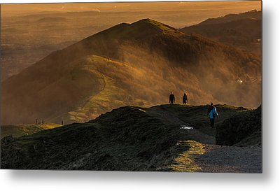 Across The Malverns At Sunset Metal Print by Chris Fletcher