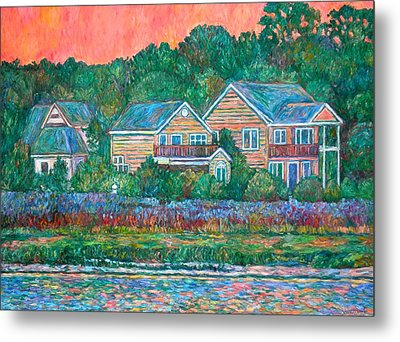 Metal Print featuring the painting Across The Marsh At Pawleys Island       by Kendall Kessler