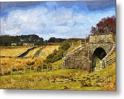 Metal Print featuring the photograph Across The Old Railway - Phot Art by Les Bell