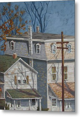 Across The Street Metal Print by Tony Caviston