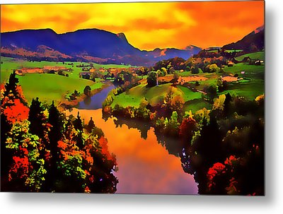 Across The Valley Metal Print by Stephen Anderson
