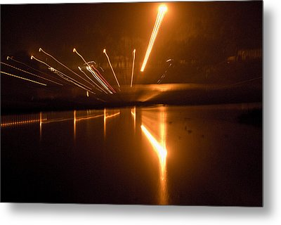 Across The Yamuna Metal Print