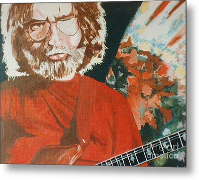 Metal Print featuring the painting Acrylic Jerry by Stuart Engel