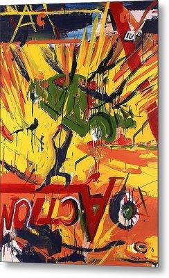 Action Abstraction No. 1 Metal Print by David Leblanc