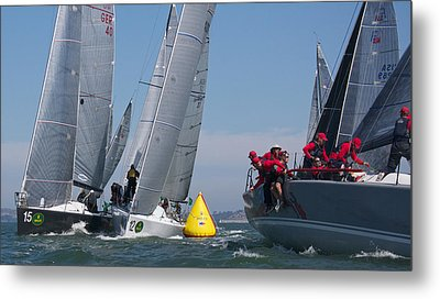 Action On The Bay Metal Print by Steven Lapkin