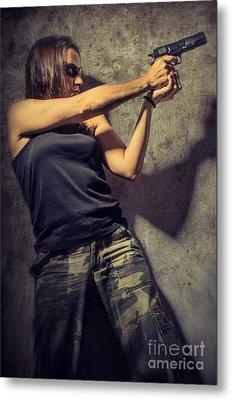 Action Woman I Metal Print