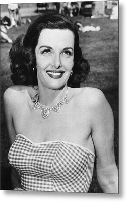 Actress Jane Russell Metal Print by Underwood Archives