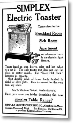 Ad Toaster, 1911 Metal Print by Granger