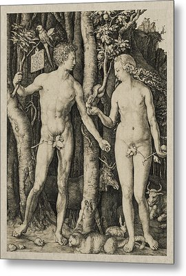 Adam And Eve Metal Print by Aged Pixel
