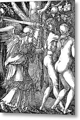 Adam And Eve Etching By Albrecht Durer Metal Print