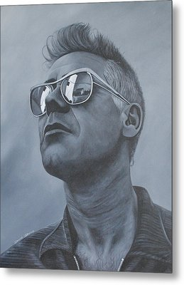 Adam Clayton U2 Metal Print by David Dunne