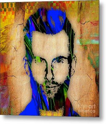 Adam Levine Painting Metal Print by Marvin Blaine