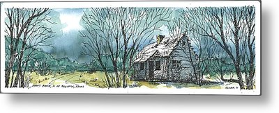Metal Print featuring the mixed media Adams Ranch Headquarters King County Texas by Tim Oliver