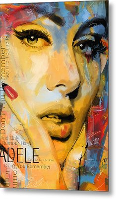 Adele Metal Print by Corporate Art Task Force