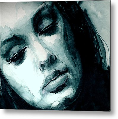 Adele In Watercolor Metal Print