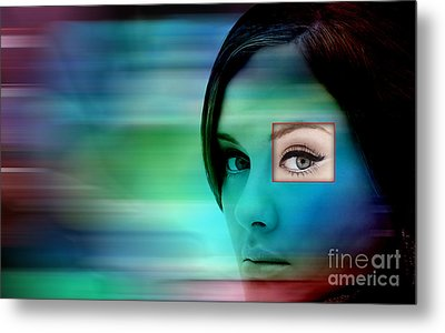 Adele Metal Print by Marvin Blaine