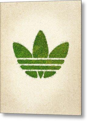 Adidas Grass Logo Metal Print