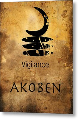 Adinkra  Akoben Metal Print by Kandy Hurley