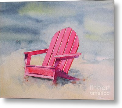 Adirondack At The Beach Metal Print by Ranjini Kandasamy