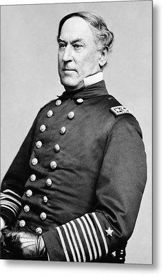 Admiral David Farragut Metal Print by War Is Hell Store