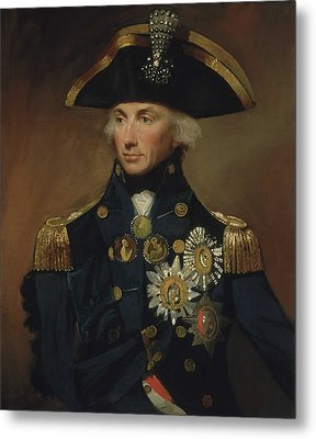 Admiral Horatio Nelson Metal Print by War Is Hell Store