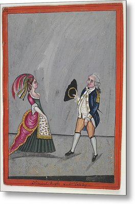 Admiral Hughes And Mrs. Oakeley Metal Print by British Library