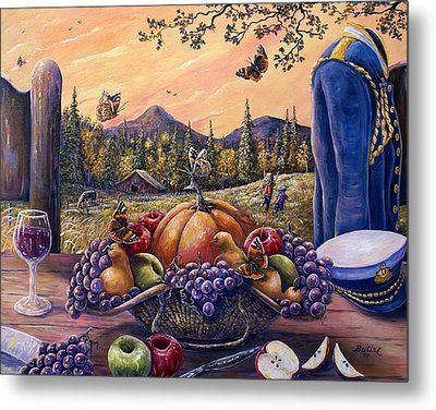 Admirals Harvest Metal Print by Gail Butler
