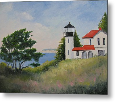 Admiralty Head Lighthouse Metal Print by Becky Bragg