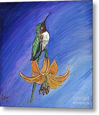 Metal Print featuring the painting Admiration by Ella Kaye Dickey