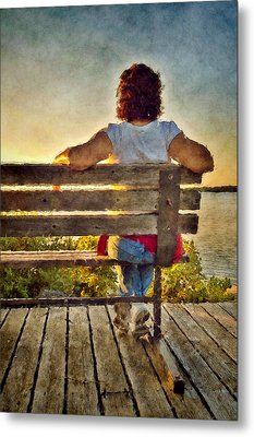 Admiring Sunset Metal Print by Celso Bressan