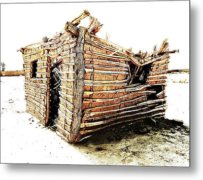 Metal Print featuring the photograph Adobe Shack 2 by Lin Haring