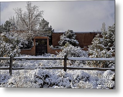 Metal Print featuring the photograph Adobe Snow by Gina Savage