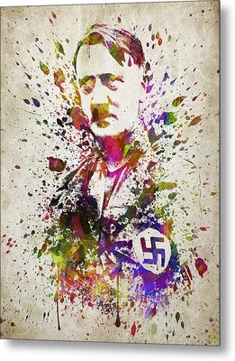 Adolf Hitler In Color Metal Print by Aged Pixel