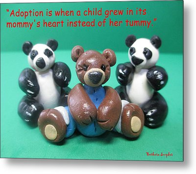 Adoption Is Metal Print by Barbara Snyder