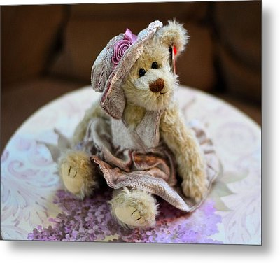 Adorable Little Teddy Bear Metal Print by Kathy Eickenberg