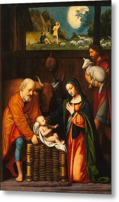 Adoration Of The Christ Child  Metal Print by Celestial Images