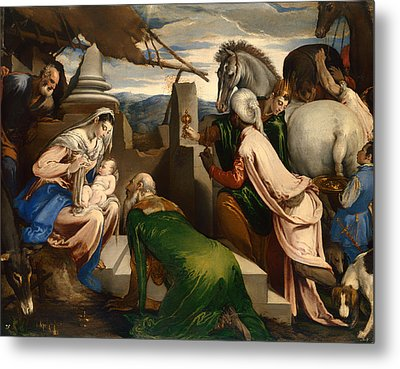 Adoration Of The Magi  Metal Print by Mountain Dreams