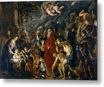 Adoration Of The Magi Metal Print by Peter Paul Rubens