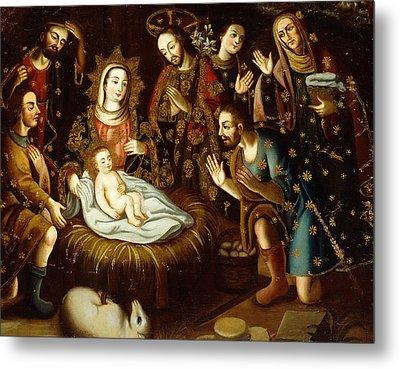 Adoration Of The Sheperds Metal Print by Gaspar Miguel de Berrio