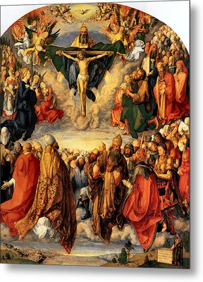 Adoration Of The Trinity Metal Print by Albrecht Durer