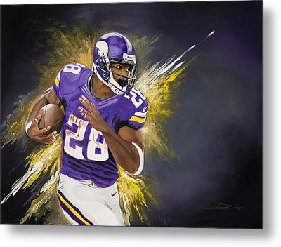Adrian Peterson Metal Print