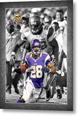 Adrian Peterson Vikings Metal Print
