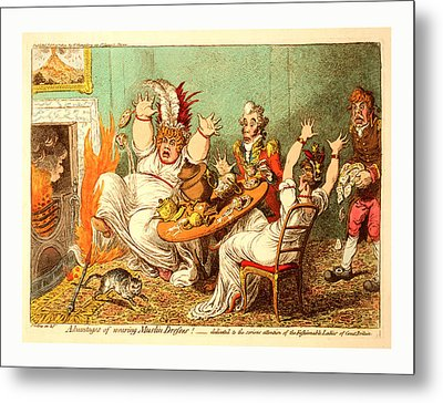 Advantages Of Wearing Muslin Dresses, Gillray Metal Print