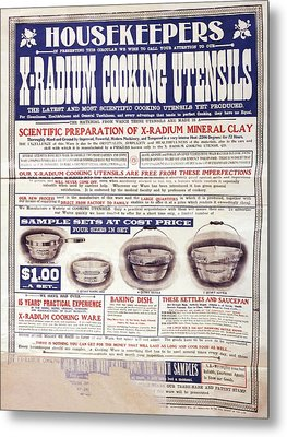 Advert For X-radium Cooking Pots Metal Print
