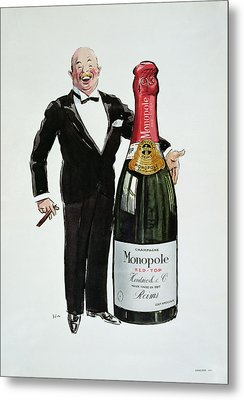 Advertisement For Heidsieck Champagne Metal Print