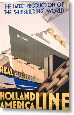 Advertisement For The Holland America Line Metal Print by Hoff