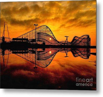 Adventure Pier At Sunrise Metal Print by Nick Zelinsky