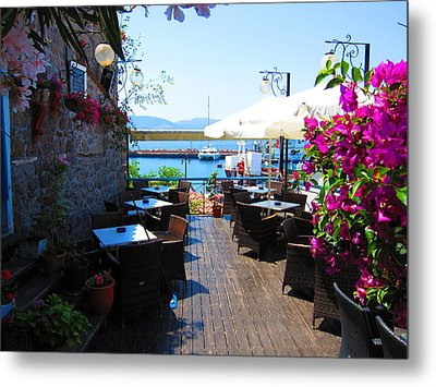 Aegean Cafe Metal Print