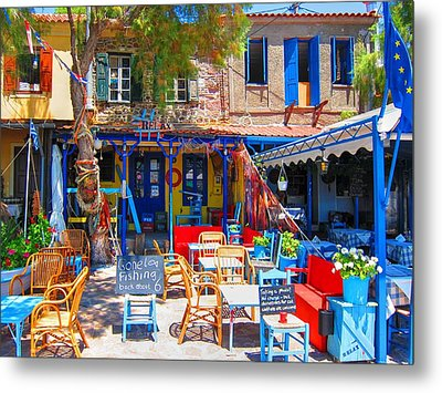 Aegean Colors Metal Print
