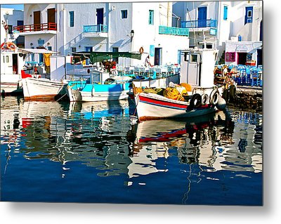 Aegean Harbor  Metal Print